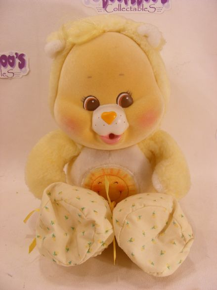 "VINTAGE 10"" FUNSHINE  CARE BEARS CUB 80S CAREBEARS"